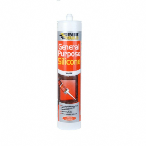 Everbuild GPSWE General Purpose Silicone Sealant White 280ml